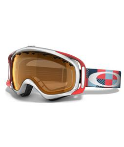 Oakley Crowbar Snowboard Goggles White-Sunset Digi-Camo/Persimmon Lens
