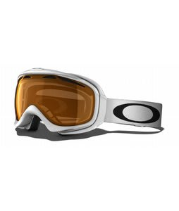 Oakley Elevate Goggles Polished White/Persimmon Lens