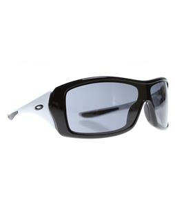 Oakley Forsake Sunglasses Black/White/Grey Lens
