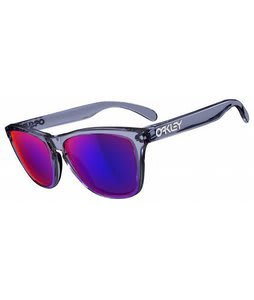 Oakley Frogskins Sunglasses Crystal Black/Positive Red Iridium Lens