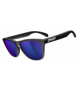 Oakley Frogskins Sunglasses Matte Black/Violet Iridium Lens