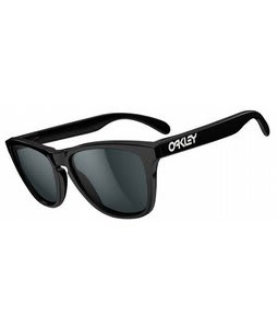 Oakley Frogskins Sunglasses Polished Black/Grey Polarized Lens