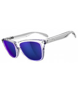 Oakley Frogskins Sunglasses Polished Clear/Violet Iridium Lens