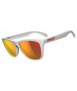 Oakley Frogskins Sunglasses Polished White/Ruby Iridium Lens