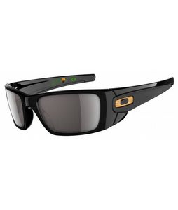 Oakley Fuel Cell Bob Burnquist Sunglasses Polished Black/Matte Black/Warm Grey Lens