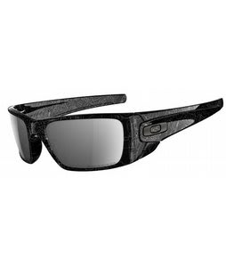 Oakley Fuel Cell Sunglasses Black/Grey History Text/Black Iridium Polarized Lens
