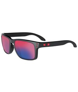Oakley Holbrook Sunglasses Matte Black/Positive Red Iridium Lens