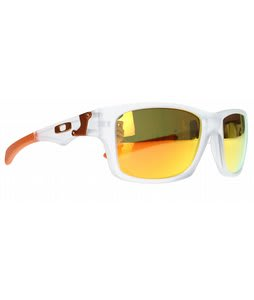 Oakley Jupiter Squared Sunglasses Matte Clear/Fire Iridium Lens
