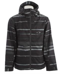 Oakley Motility Lite Snowboard Jacket Black Stripe