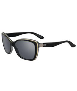 Oakley News Flash Sunglasses Black Shadow /Grey Lens