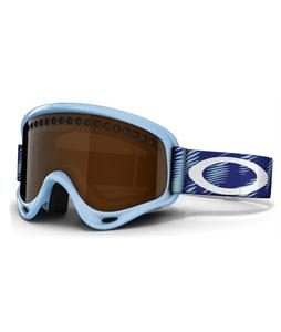 Oakley O Frame Snowboard Goggles Snow Traction Crystal Blue/Black Iridium Lens