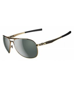 Oakley Plaintiff Sunglasses Polished Gold/Dark Grey Lens