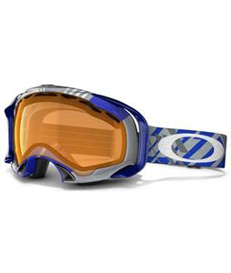 Oakley Splice Snowboard Goggles Tech Plaid Blue/Persimmon Lens