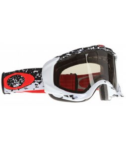 Oakley Twisted Goggles Pixel Fade Red/Dark Grey Lens