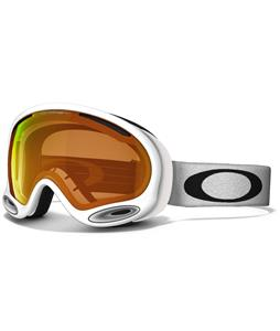 Oakley A Frame 2.0 Goggles Polished White/Persimmon Lens