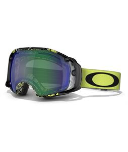 Oakley Airbrake Goggles Topography Lime Black/Jade Iridium And Persimmon Lens