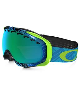 Oakley Crowbar Goggles Braided Blue Lime/Dark Grey Lens