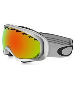 Oakley Crowbar Goggles Matte White/Fire Iridium Lens