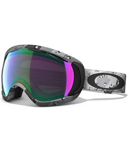 Oakley Crowbar Goggles Tanner Hall High Grade Snow Camo/Jade Iridium Lens