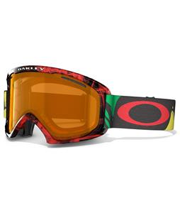 Oakley O2 XL Goggles Burned Out Rasta/Persimmon Lens