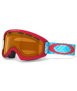 Oakley O2 XS Goggles Braided Blue Red/Persimmon Lens