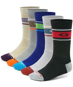 Oakley Performance Basic Crew 5 Pack Socks