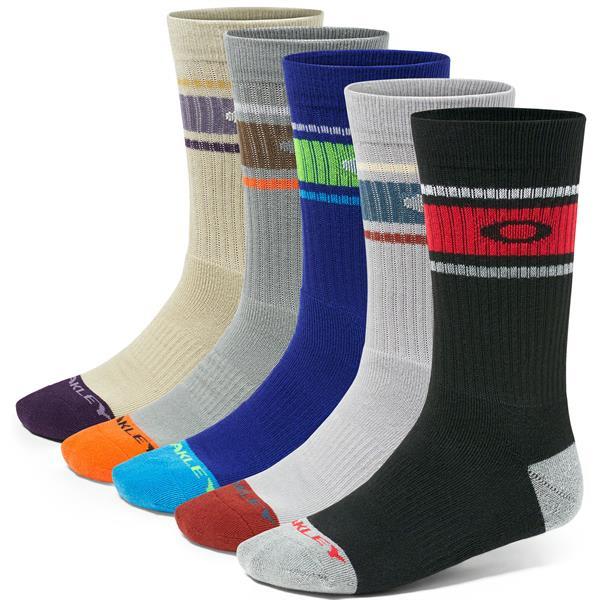 Oakley Performance Basic Crew 5 Pack Socks