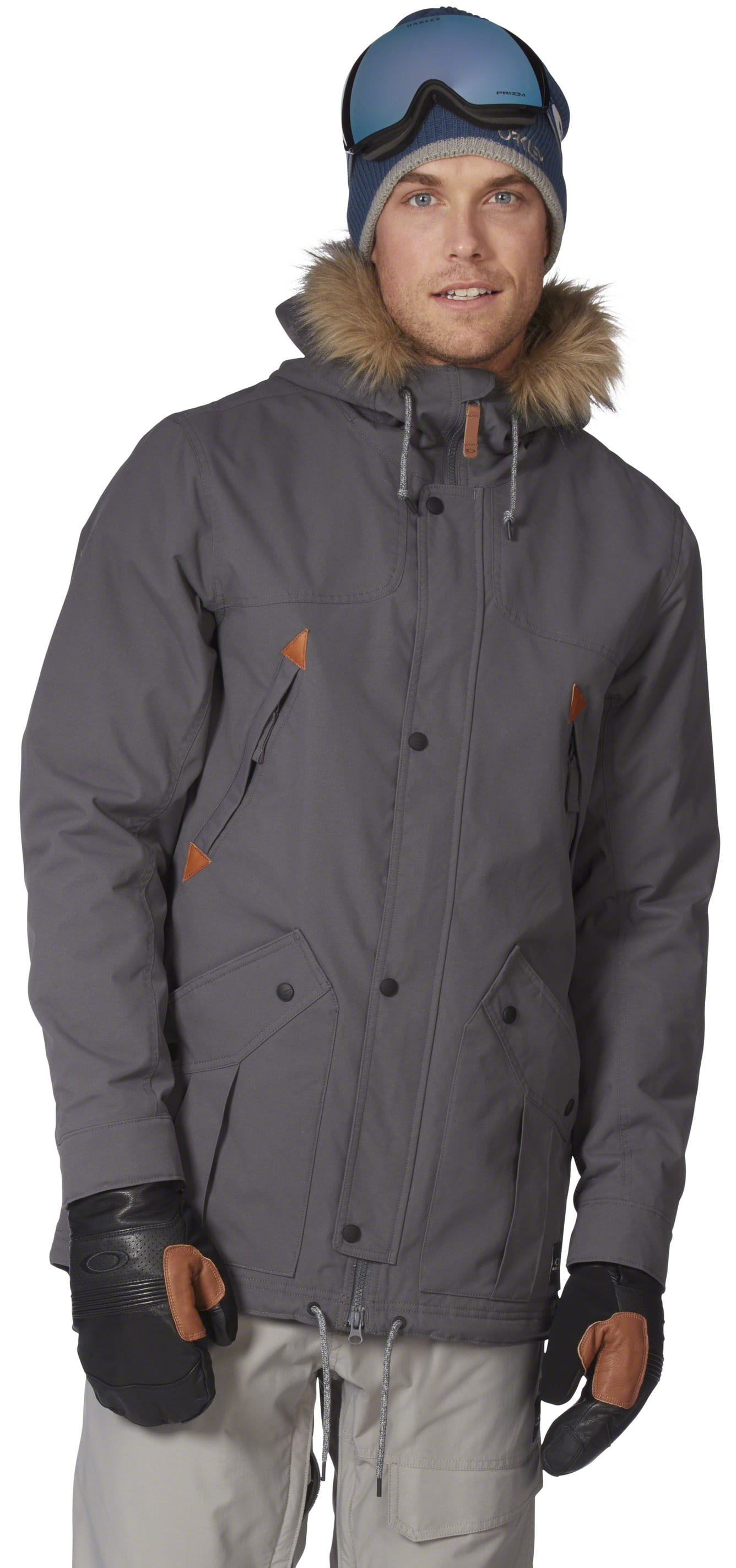 86572ea8148 On Sale Oakley Silver Horse Parka Fit Snowboard Jacket up to 40% off