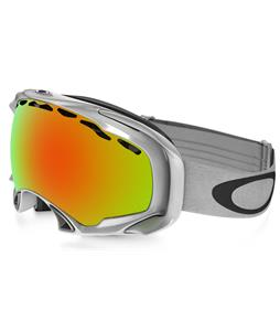 Oakley Splice Goggles Polished White/Fire Iridium Lens