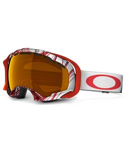 Oakley Splice Goggles Topography Red Black/Persimmon Lens
