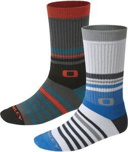 Oakley Striped Crew Socks