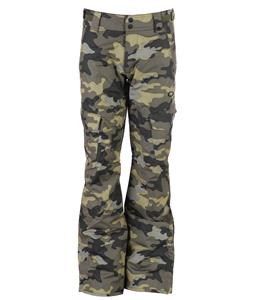 Oakley Task Force Slim Insulated Cargo Snowboard Pants Olive Camo