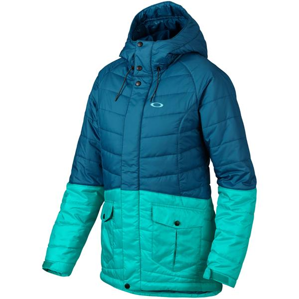 Gorski quilted puffer après-ski jacket with goose down insulation. Hooded neckline with contrast, dyed fox fur (Finland) trim. Zip front with snap cover placket.