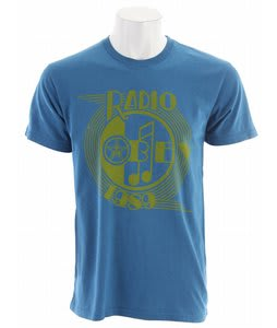 Obey AM Radio T-Shirt Heather Harbor Light Blue