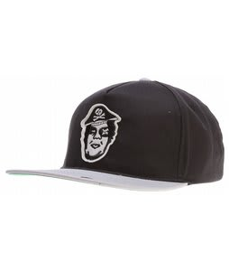 Obey Avast Snapback Cap Black/Grey