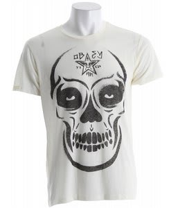 Obey Burner Skull Nubby Thrift T-Shirt Scour