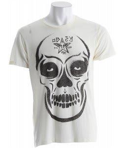 Obey Burner Skull Nubby Thrift T-Shirt