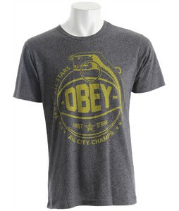 Obey Can't Jump Mock Twist T-Shirt Black