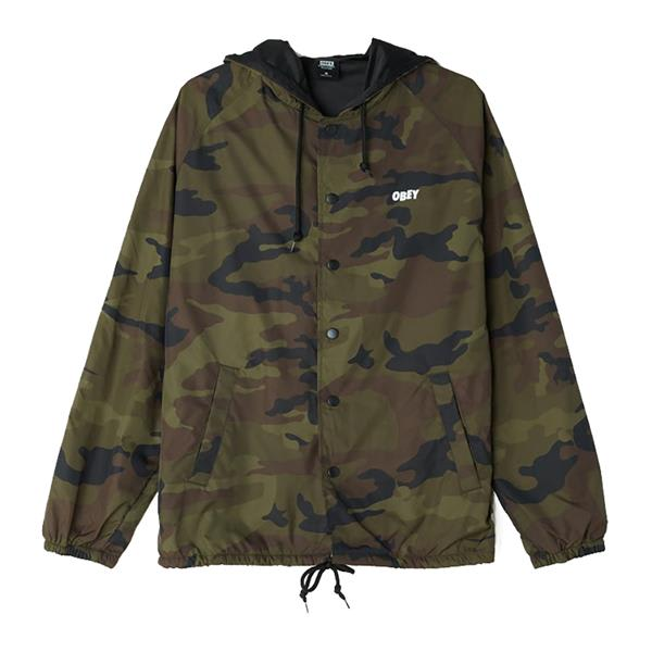 Obey Chaos Dissent Propaganda Hooded Coaches Jacket