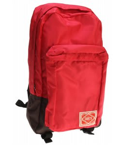 Obey Commuter Backpack Red/Brown