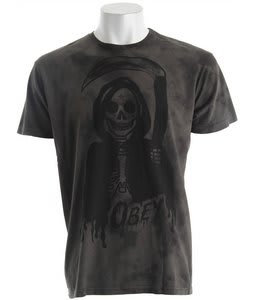 Obey Grim Reaper Crystal Tie Dye T-Shirt Graphite