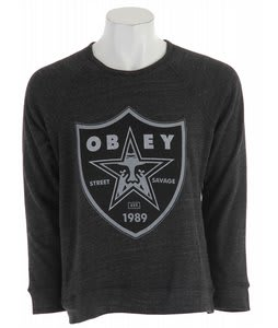 Obey Nation 2 Graphic Fleece Heather Onyx