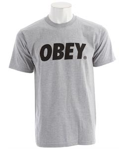 Obey Obey Font Basic T-Shirt Heather Grey