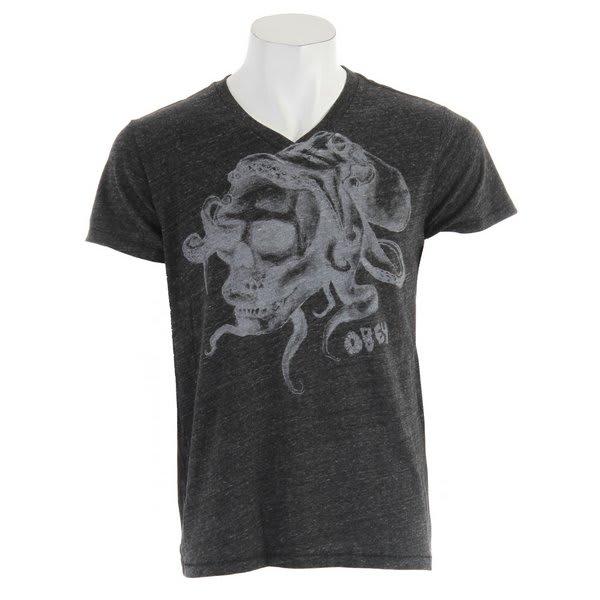 Obey Octoskull Tri Blend V-Neck T-Shirt