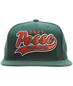Obey On Deck Snapback Cap Dark Green