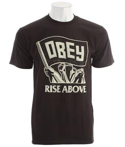 Obey Rise Above Flag Basic T-Shirt Black