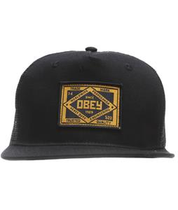 Obey Trademark Trucker Cap Black