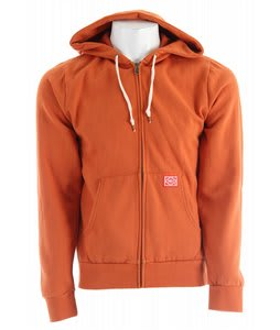 Obey Trademark Zip Hoodie Burnt Orange