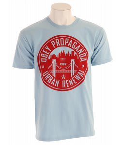 Obey Urban Renewal Basic T-Shirt Light Blue