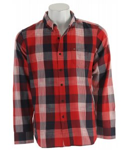 Obey West Indies L/S Shirt Red/Navy